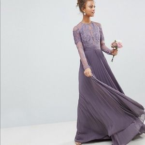 Long Sleeved Lace Bridesmaid Dress